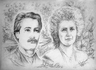 Eminescu și Carmen Silva, admirație