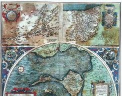 Abraham Ortelius, Golful Cadiz, 58,5x48,5cm, Anvers 1584