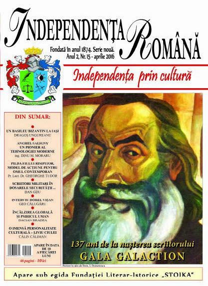 Independenta Romana - Aprilie 2016 (An 2, Nr. 15)