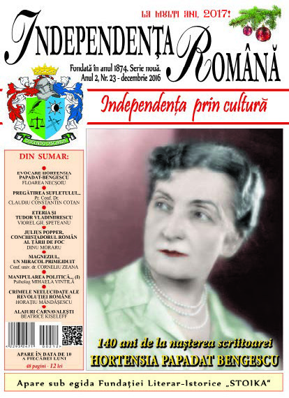 Independenta Romana – Decembrie 2016 (An 2, Nr. 23)