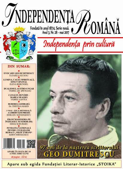 Independenta Romana – Mai 2017 (An 3, Nr. 28)