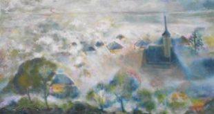 Ajunul Crăciunului, pictură ulei pe pânză, 60x80 cm