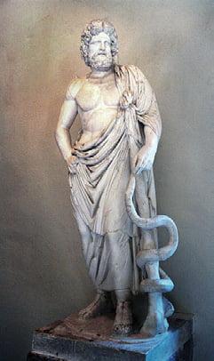 Asclepios - zeul medicinei în mitologia greacă