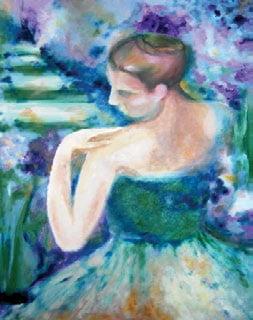 Primăvara violet, pictură ulei pe pânză, 60x80 cm