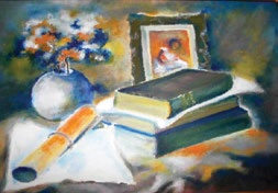Siesta, pictură ulei pe pânză 50x40 cm