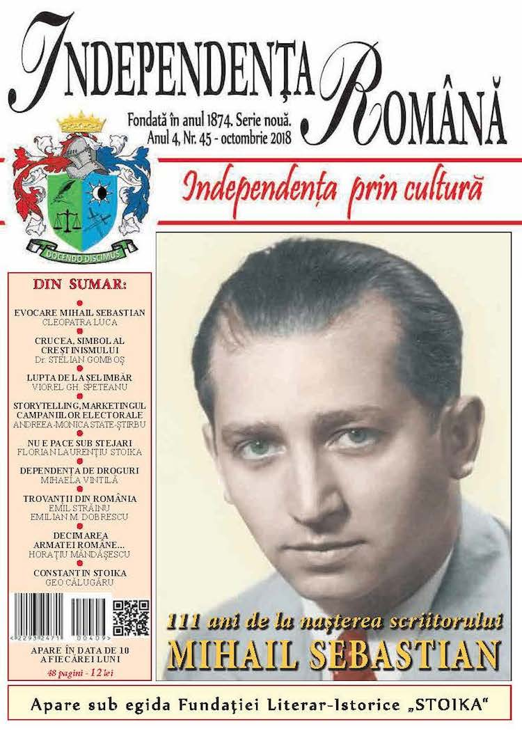 Independenta Romana – Octombrie 2018 (An 4, Nr. 45)