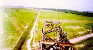 """""""Para-barză"""" pe un stâlp al LEA 220 kV Barboși-Focșani Vest"""