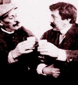 Ion Luca Caragiale și Alexandru Vlahuță