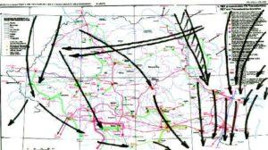 Traseele de migrație a păsărilor suprapuse peste harta RET din România
